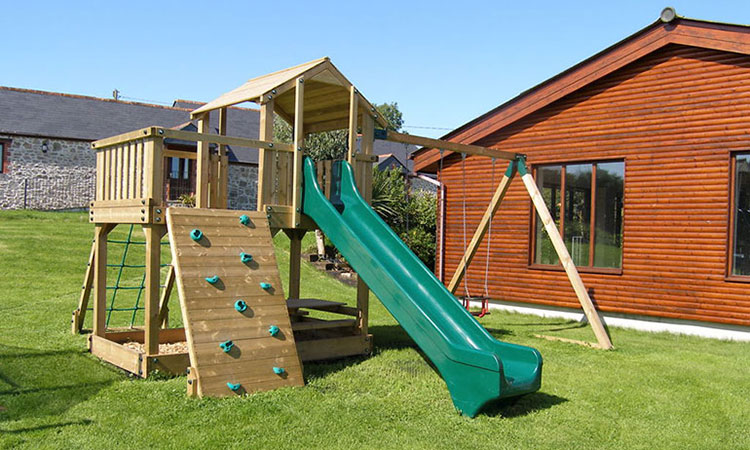 grassed play area