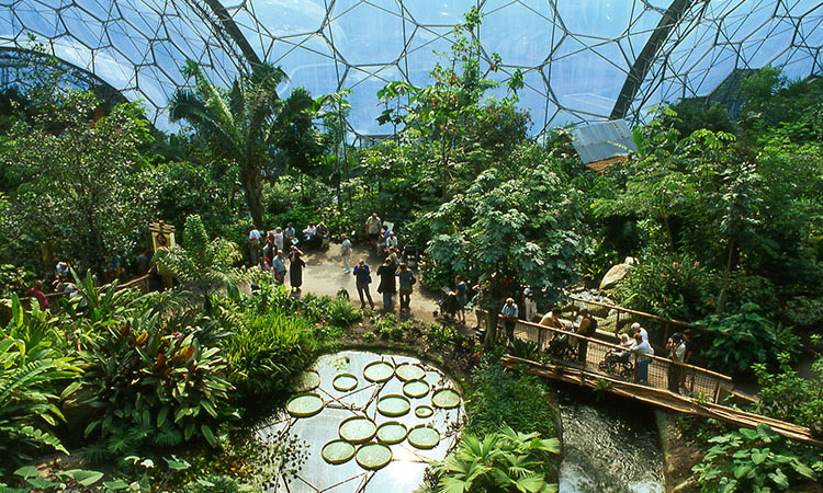 The Eden Project near St Austell