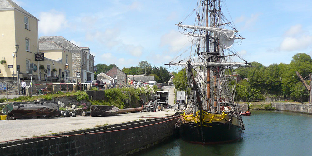 Charlestown Harbour near St Austell in Cornwall